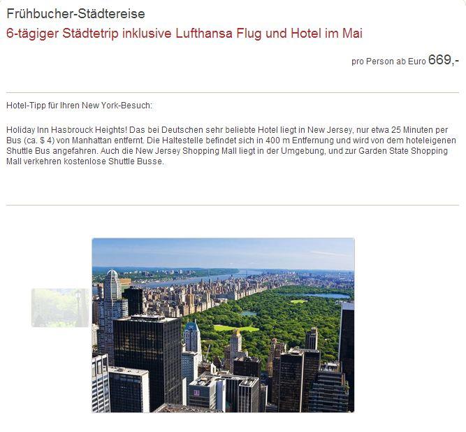 6 t giger st dtetrip nach new york f r 669 im mai incl. Black Bedroom Furniture Sets. Home Design Ideas