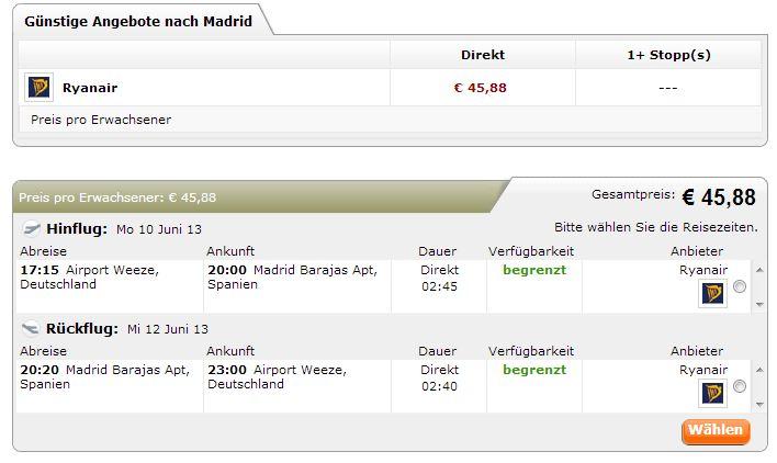 111Flüge Madrid