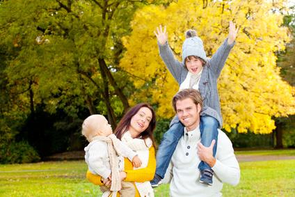 herbst zeit familie freude