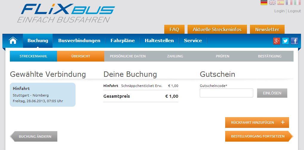 Quer durch deutschland flixbus tickets 1 euro pro for Designhotel oldenburg