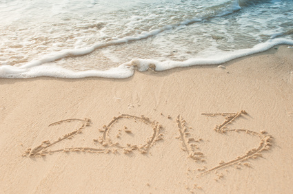 2013 marked the sand at the beach