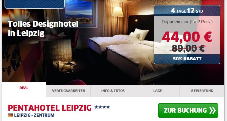 Designhotel pentahotel leipzig nur 44 euro statt 89 euro for Design hotel leipzig