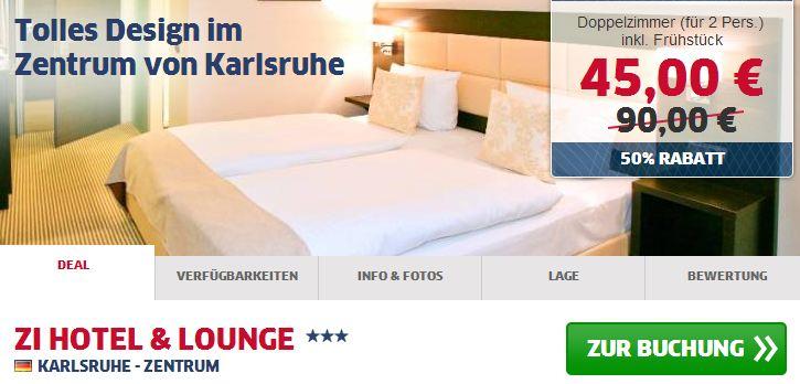 Neues designhotel in karlsruhe f r 21 50 nacht inkl for Karlsruhe design hotel