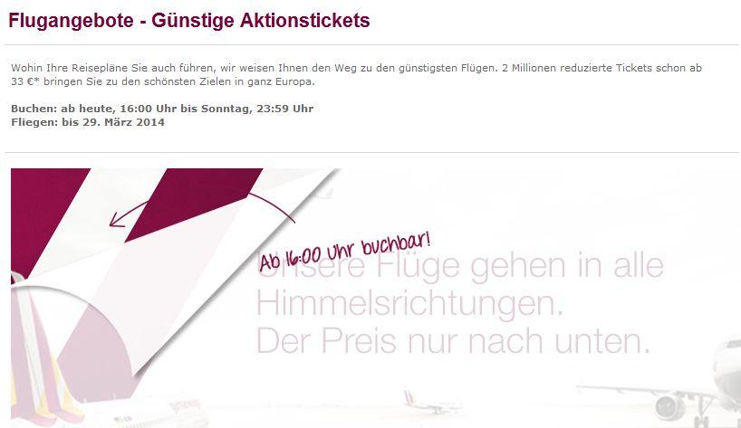 Germanwings Fl 252 Ge Sale Heute Ab 16 00 Uhr Z B Mailand