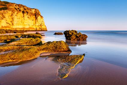 Porto de Mos Beach in Lagos, Algarve, Portugal