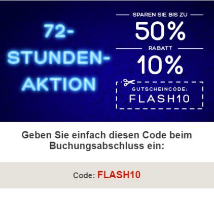 Hotels.com 72-Stunden-Aktion