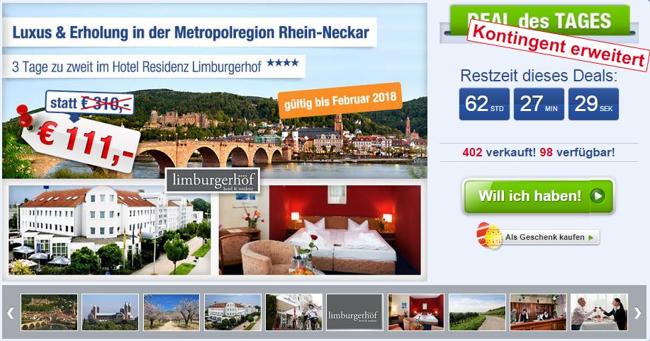 Schnäppchen Rhein Neckar