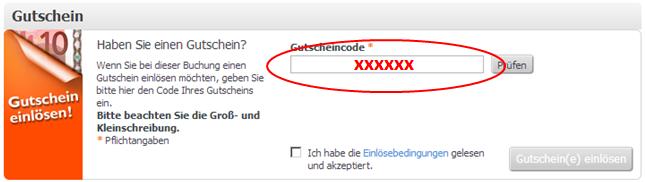 Gutschein einlösen bei Weg.de