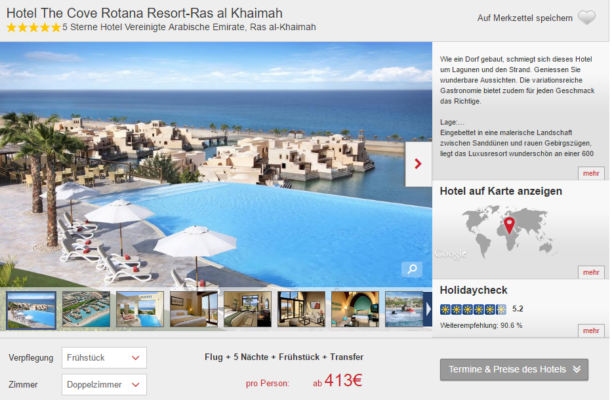 5 Tage Emirate Luxus Schnäppchen