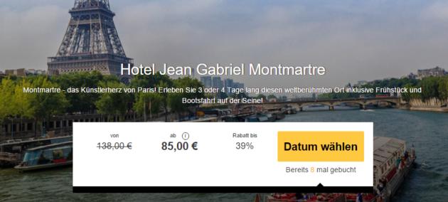 3 Tage Paris Hotel Jean Gabriel