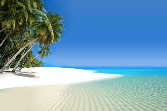 Weißer Strand in der Karibik