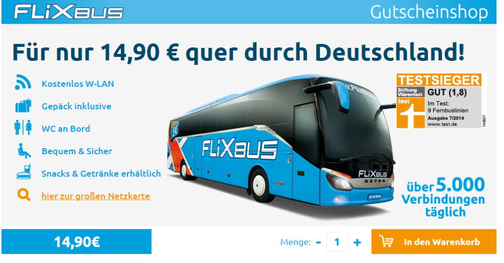 mit flixbus f r nur 14 99 quer durch deutschland. Black Bedroom Furniture Sets. Home Design Ideas