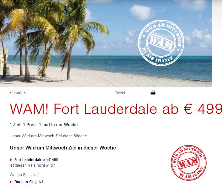 Air France Fort Lauderdale Schnäppchen