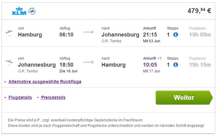Flugladen Johannesburg
