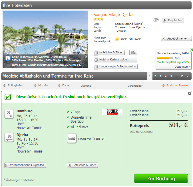 Tunesien Lastminute All Inclusive