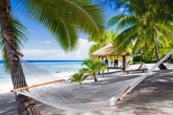 Hängematte am Strand von Jamaika