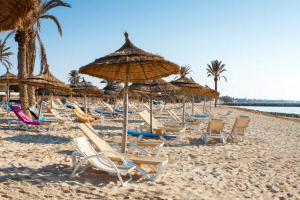 Port El Kantaoui Strand, Tunesien