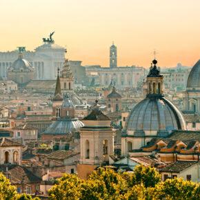 Blick über Rom von Sant'Angelo