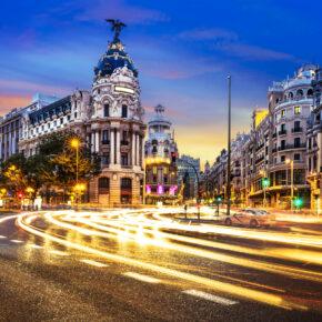 Wochenende in Madrid: 4 Tage im zentralen TOP 3* Hotel mit Flug nur 116€