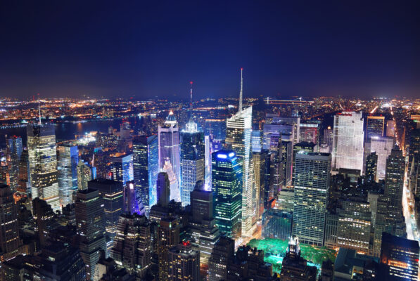 Brooklyn Bridge und Manhattan in New York