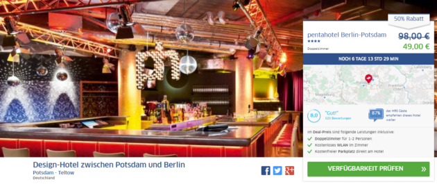 Berlin Pentahotel Hotelschnäppchen