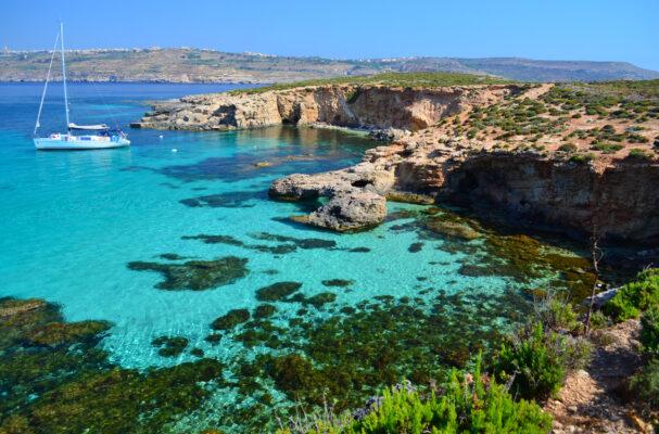 Yacht in Comino Malta