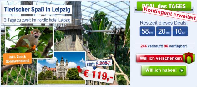 Hotel in Leipzig mit Zoo