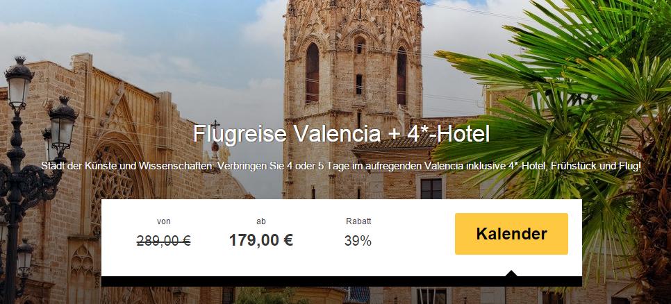 4 tage valencia im 4 hotel mit fr hst ck flug ab 179. Black Bedroom Furniture Sets. Home Design Ideas