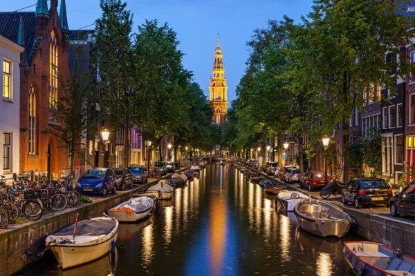 Amasterdam Kanäle bei Nacht