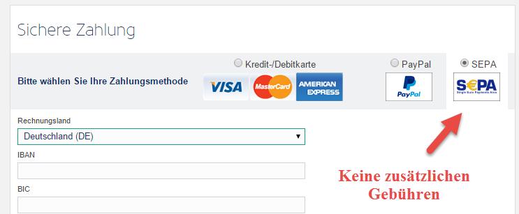 Bezahlung Ryanair Gebühren