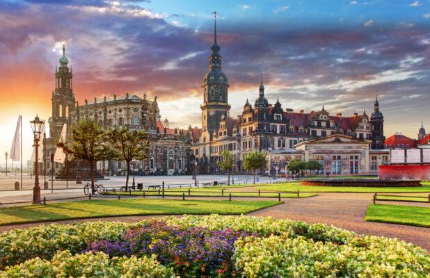Dresden Blick über Stadt