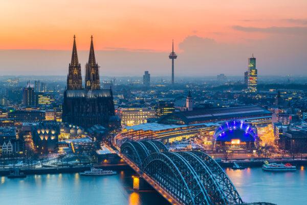 Köln Sonnenuntergang