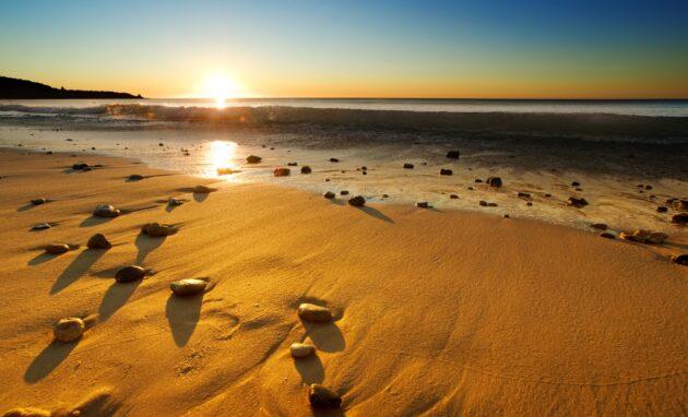 Sonnenuntergang am Strand VAE