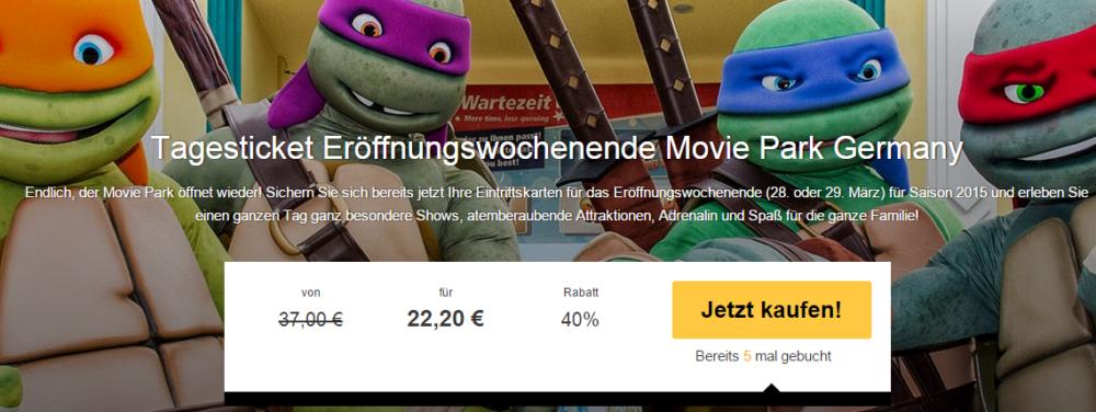 Movie Park Germany Gutschein Eröffnungswochenende
