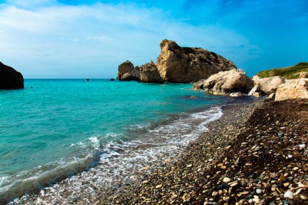 Pebble Strand Paphos Zypern