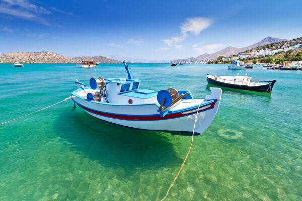 Kreta Fischerboot im Hafen