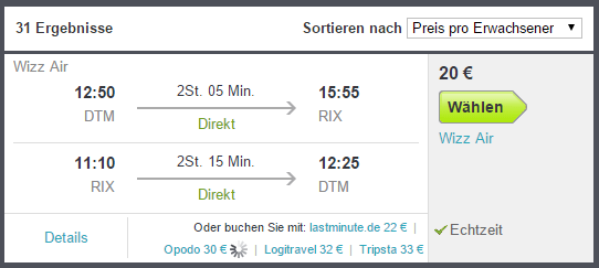Flug Riga