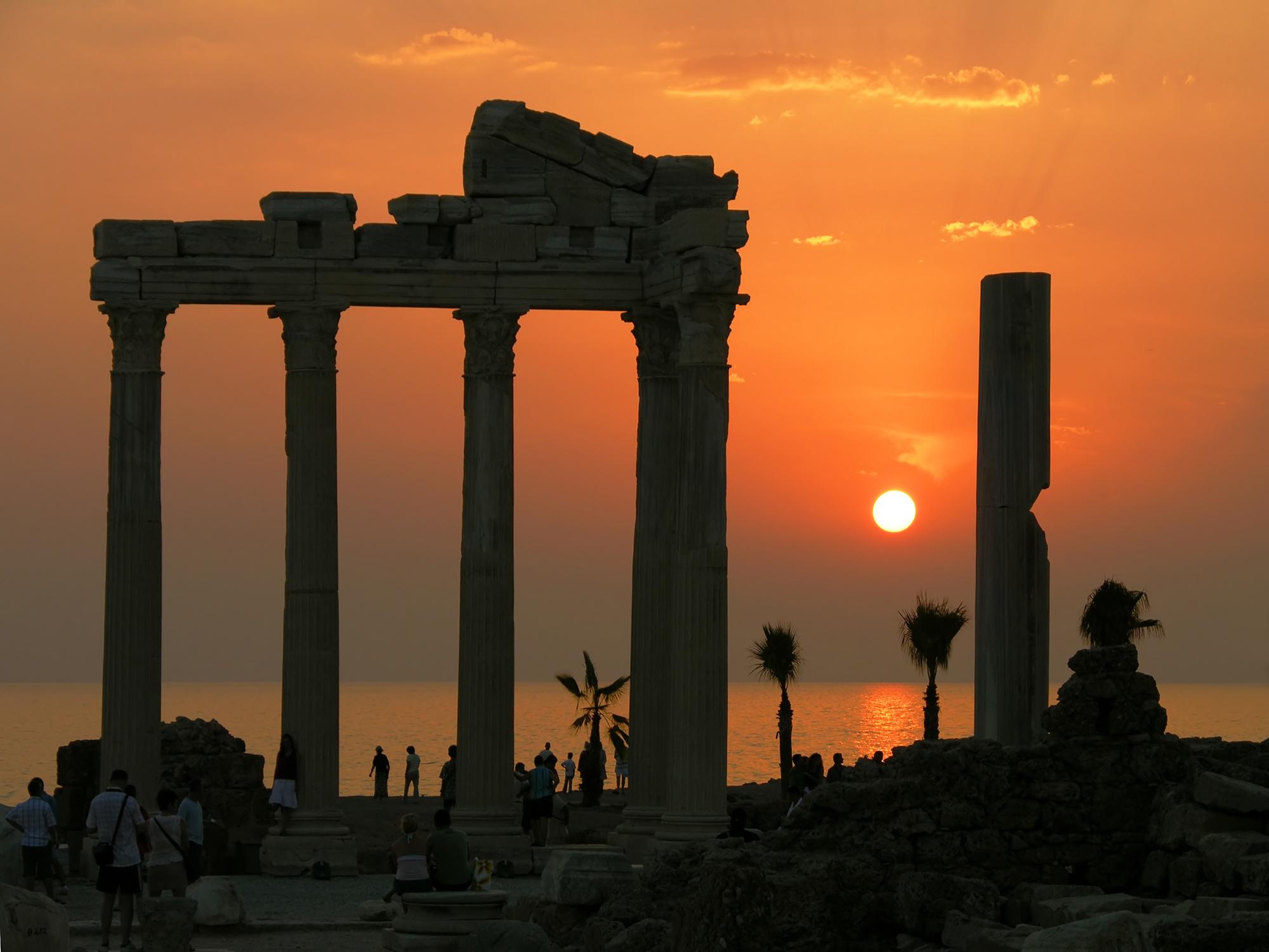 Alte Ruinen in Side, Türkei