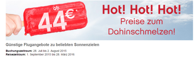airberlin Tickets ab 44 €
