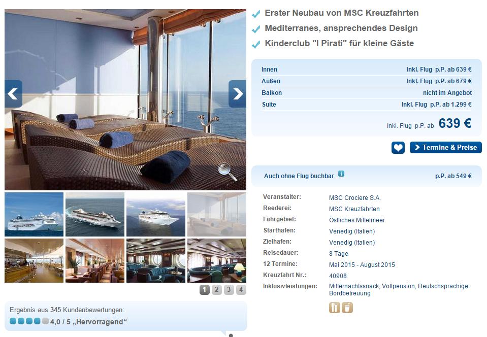 Mittelmeer Kreuzfahrt im Juni