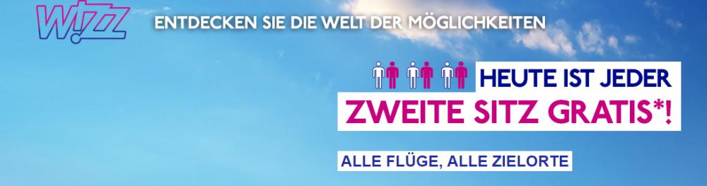 Wizzair 2. Person gratis