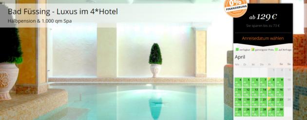 3 tage 4 aktiv wellness in bad f ssing inkl hp saunen thermalbad uvm ab 129. Black Bedroom Furniture Sets. Home Design Ideas