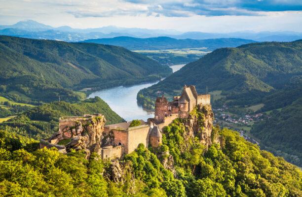Aggstein Burg Donau, Österreich