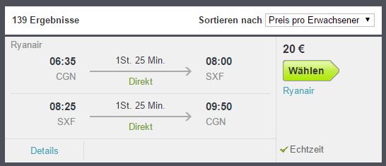 Flüge Berlin Köln