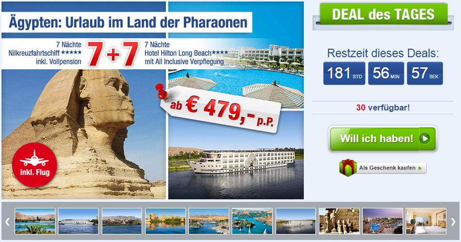 Ägypten Kombi Kreuzfahrt und Hotel