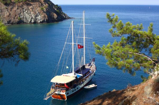 Kemer mit Boot Türkei