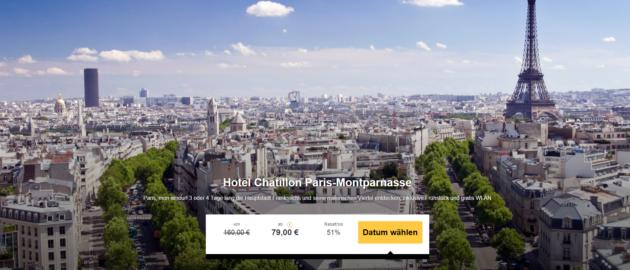 Paris Städtetrip Schnäppchen