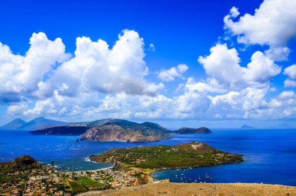 Sizilien Lipari Insel Vulkan Italien