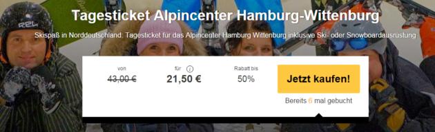 Skihalle hamburg gutschein nur 21 50 am tag mit for Smow gutschein