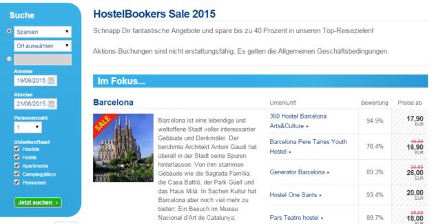 hostel sale hostelbookers
